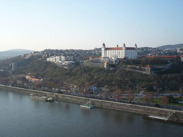 La ciudad de Bratislava, capital de Eslovaquia