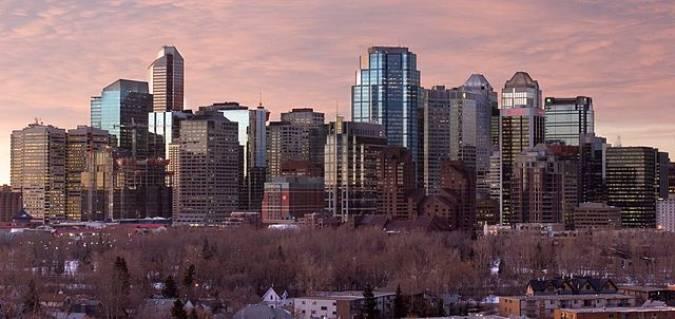La ciudad de Calgary, a los pies de las Montañas Rocosas canadienses