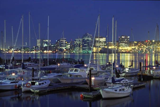 La ciudad de Halifax, en Nueva Escocua, canadá