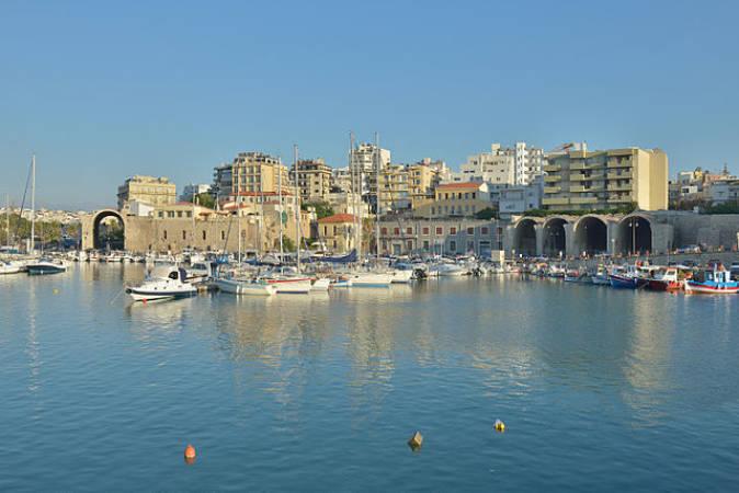 La ciudad griega de Chania, en la isla de Creta