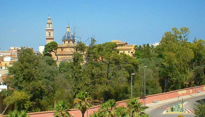 La localidad de Burjassot, en el interior de Valencia