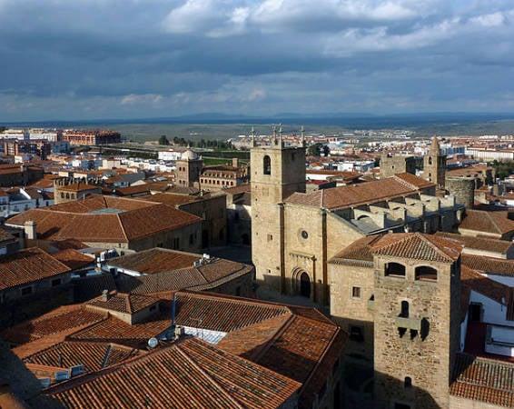La monumental ciudad extremeña de Cáceres
