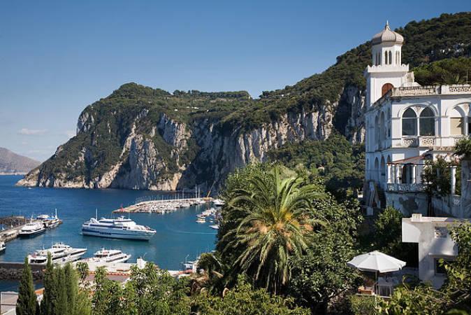 La villa de Capri, en la isla italiana de Capri