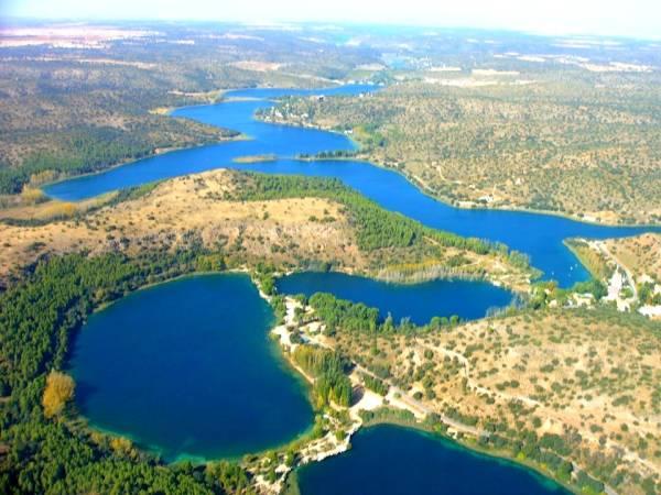 Vista aérea de las Lagunas de Ruidera