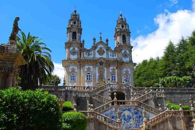 Santuario de Nuestro Señora de los Remedios, en Lamego, Portugal