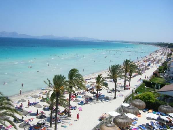 La playa de Alcudia, en Mallorca