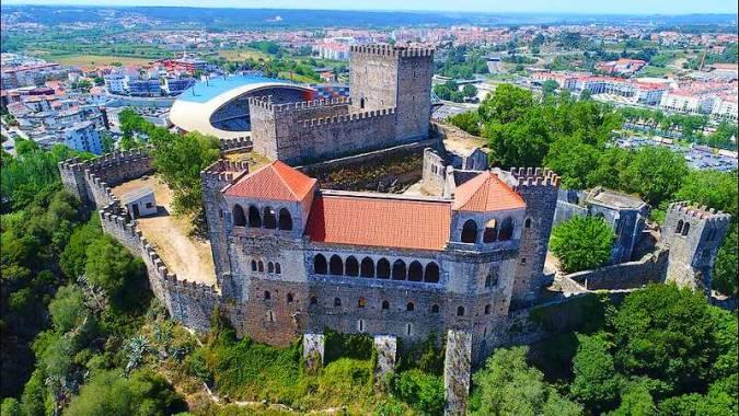 Castillo de Leiria, en Portugal