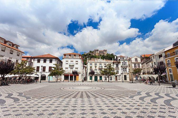La villa de Leiria, en Portugal