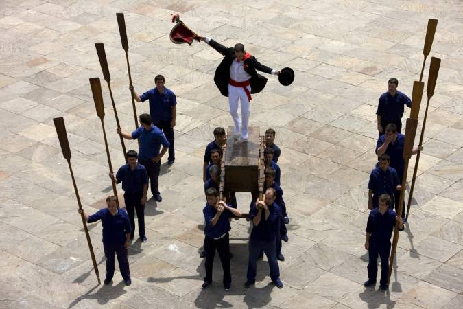 Baile de la Kaxarranka, en Lekeitio, Vizcaya