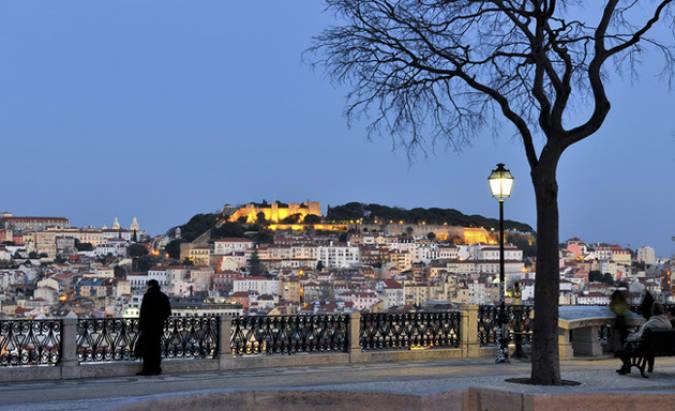 Mirador de San Pedro de Alcántara, en Lisboa