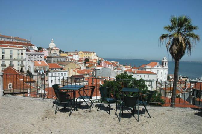 Mirador Porta do Sol, en Lisboa