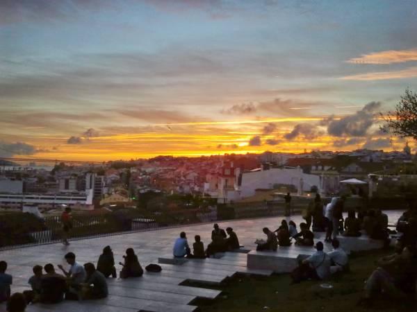 Mirador de Santa Catarina, en Lisboa