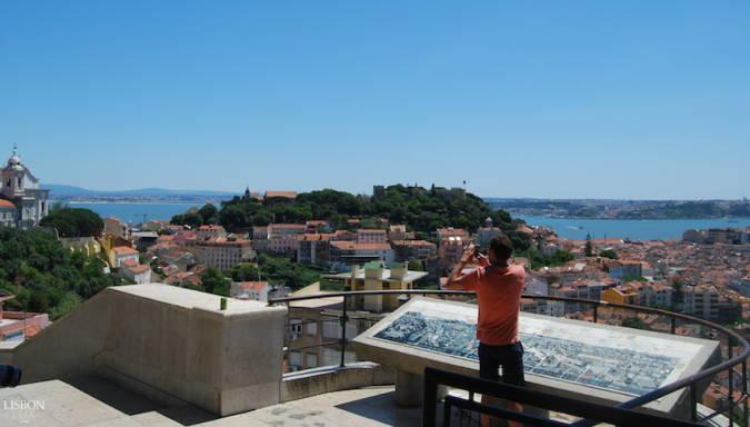 Mirador da Senhora do Monte, en Lisboa