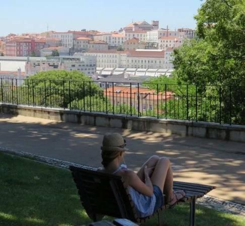 Mirador del Jardim do Torel, en Lisboa