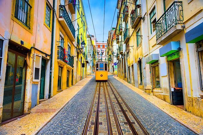 Clásico tranvía en Lisboa