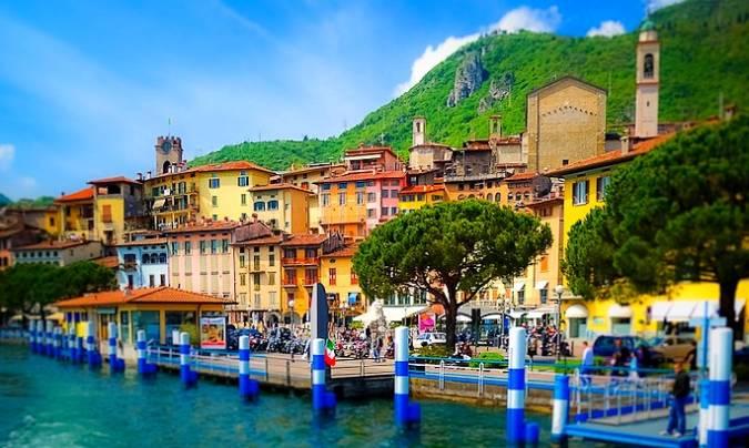 La hermosa villa italiana de Lovere