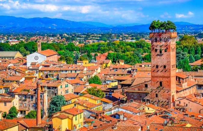 La histórica villa de Lucca, en Italia