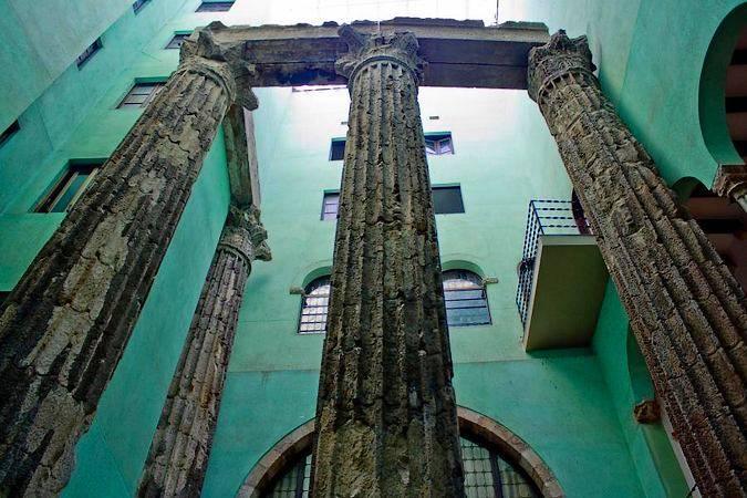 Restos del Templo de Augusto, en Barcelona