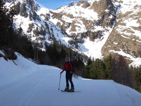 Esquí de fondo en la Estación de Tavascán, en Lleida