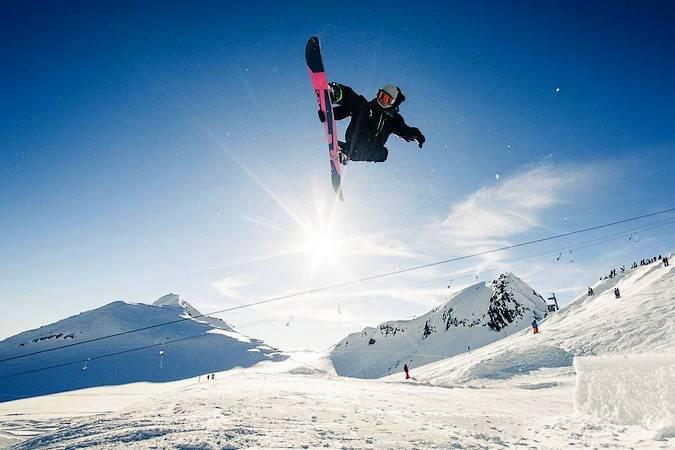 Practicar snowboard en España