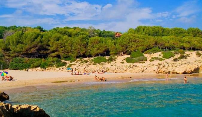 Playa dels Capellans, en L' Ampolla, Tarragona