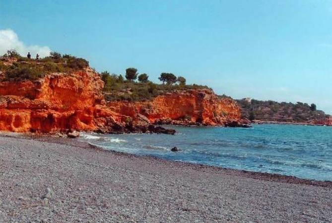 Playa del Baconé, en L' Ampolla, Tarragona