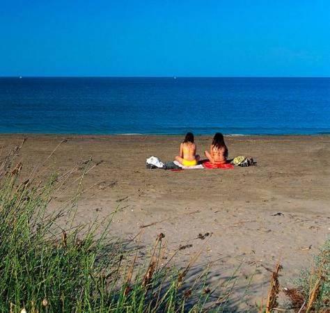 Playa de L' Arenal, en L' Ampolla, Tarragona