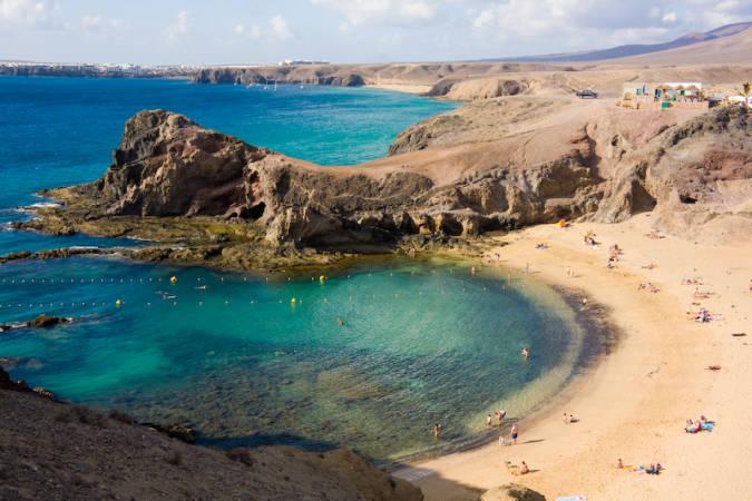 Playa de El Papagayo, en Lanzarote