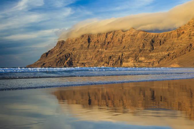 Playa Famara, en Lanzarote
