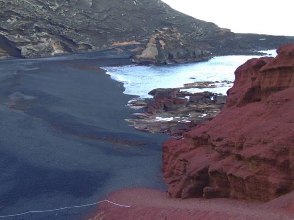 Playa de El Golfo, en Lanzarote