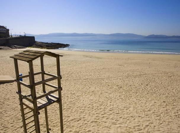 Playa de Caneliñas, en Sanxenxo, Pontevedra