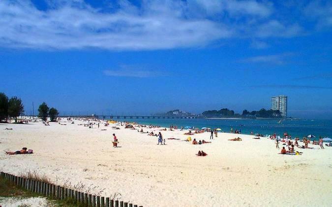 Playa de O Vao, en Vigo, Pontevedra