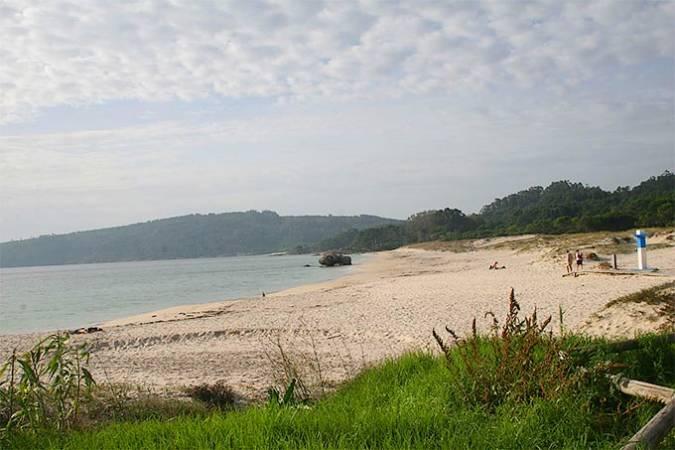 Playa de Nerga, en Cangas, Pontevedra