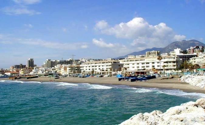 Playa La Carihuela, en Torremolinos
