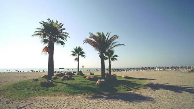 Playa Los Álamos, en Torremolinos
