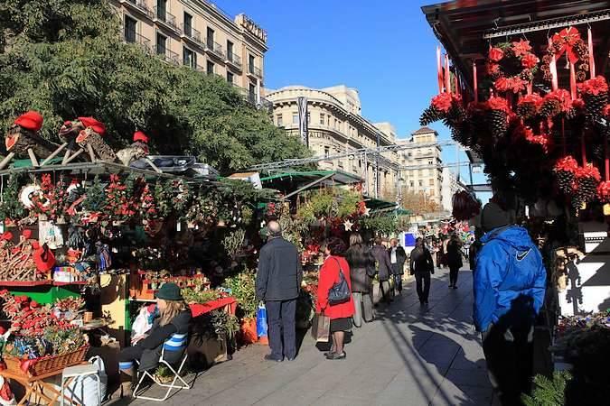 El Mercado de Navidad de Santa Lucía, en Barcelona