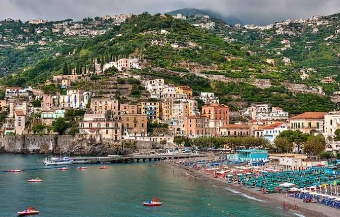 Playa de Minori, en Italia