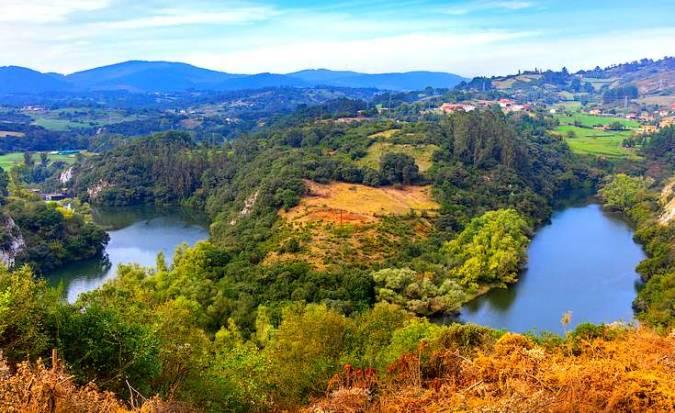 Los miradores de los Meandros del río Nora, en Asturias