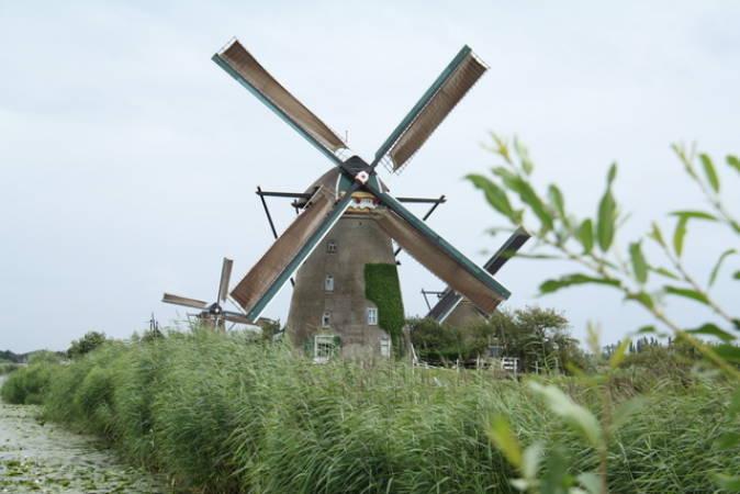 Molinos de Kinderdijk en Holanda