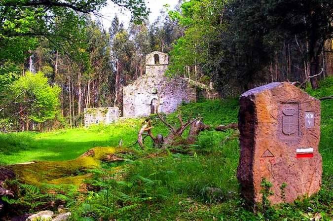 El Monasterio de Santa María de Tina, en Asturias