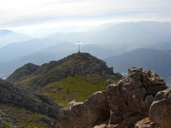 Cima del monte Udalaitz, en Mondragón