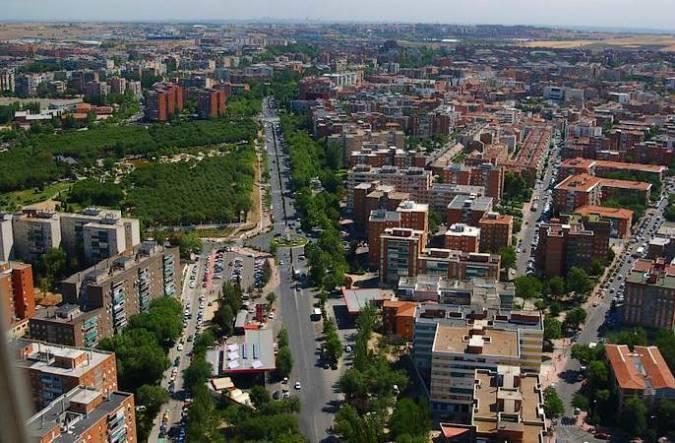Vista aéres de Móstoles, en Madrid