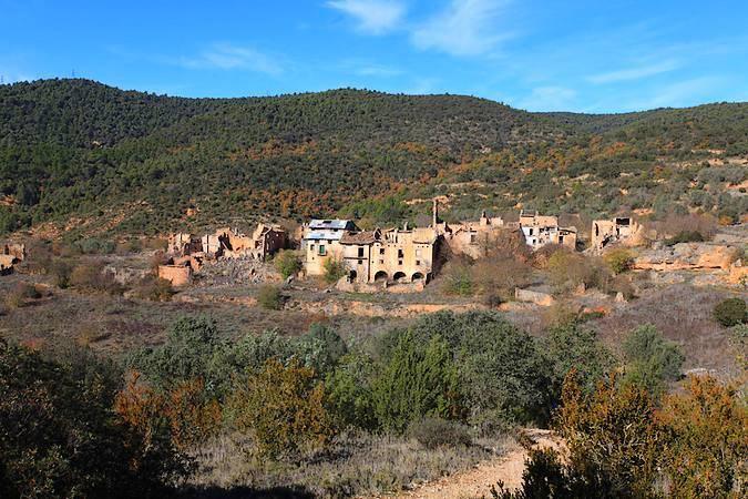 El pueblo abandonado de Finestres, en Huesca
