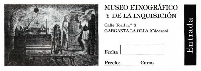 Entrada del Museo de la Inquisición, en Garganta la Olla, Cáceres
