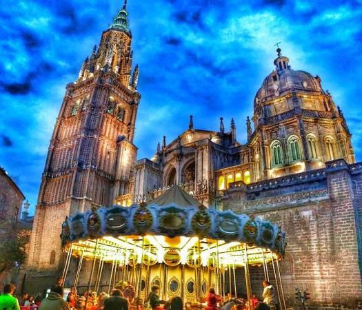 La ciudad de Toledo en Navidad