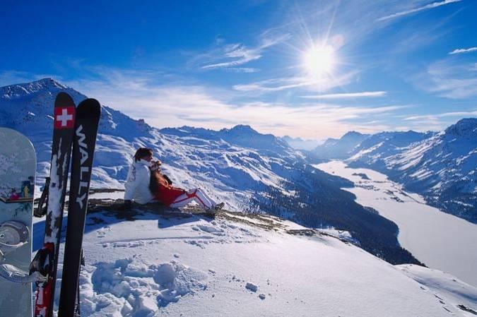 Navidad en la ciudad suiza de St. Moritz