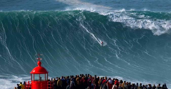 Nazaré, las mejores olas de Portugal