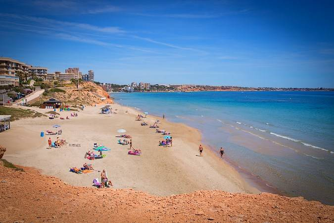 Playa Mil Palmeras, en Orihuela, Alicante