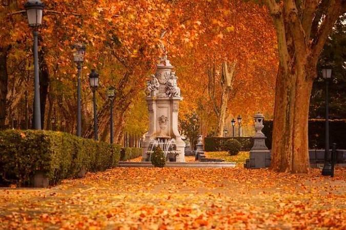 Otoño en el Parque de El Retiro, en Madrid