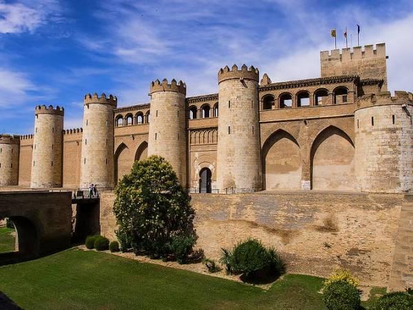 El Palacio de la Aljafería, en Zaragoza